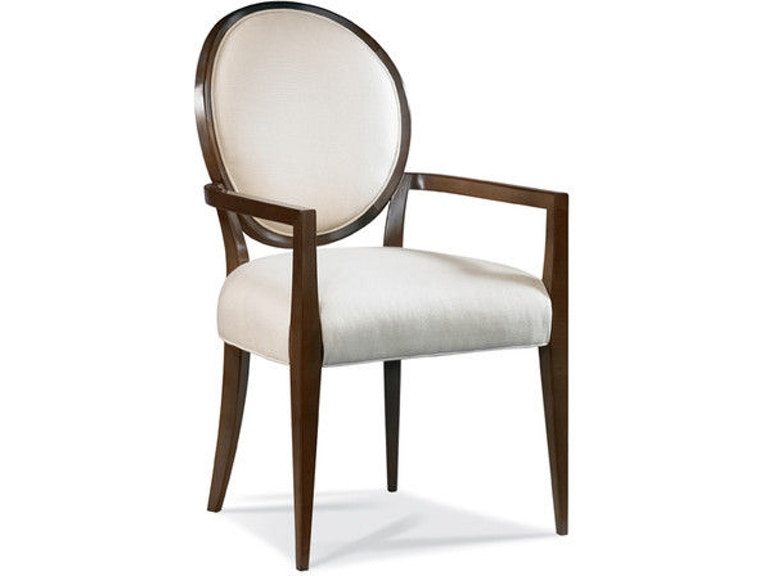 Hickory White Dining Room Oval Back Arm Chair 531 63
