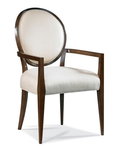 Hickory White Oval Back Arm Chair 531 63