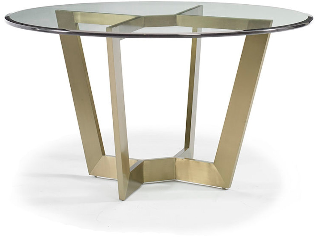 Hickory white dining room marc metal table base 550 07 gl for Dining room tables milwaukee