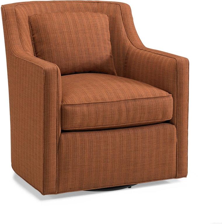 Fantastic Hickory White Living Room Track Arm Swivel Chair 5804 01S Machost Co Dining Chair Design Ideas Machostcouk