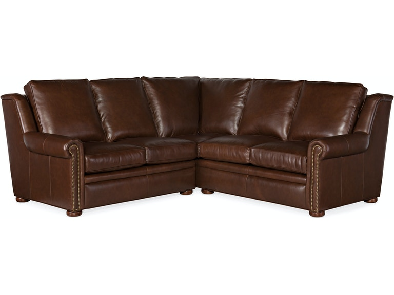 Bradington Young Sectionals 202 Reece Stationary Sectional with One-Piece Back