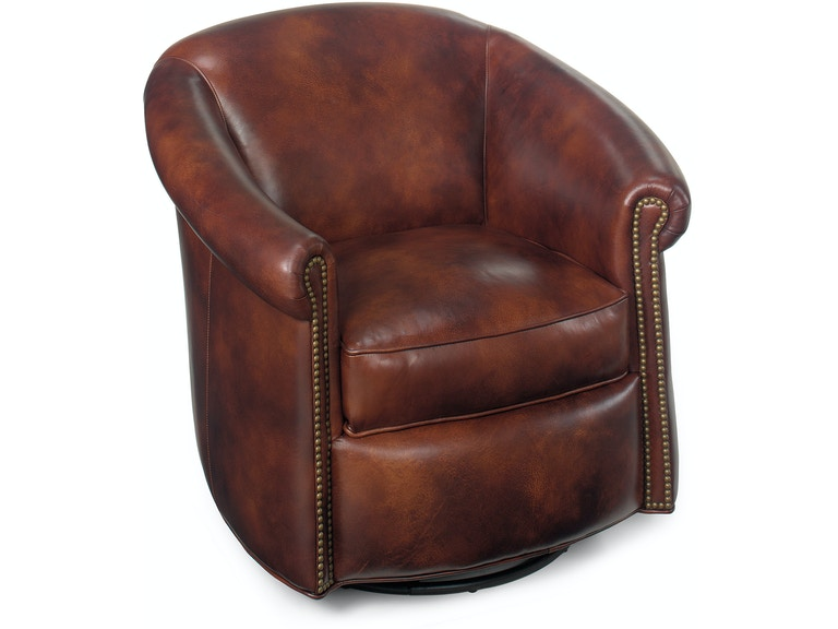 Bradington-Young Living Room Marietta Swivel Tub Chair 340-25SW ...