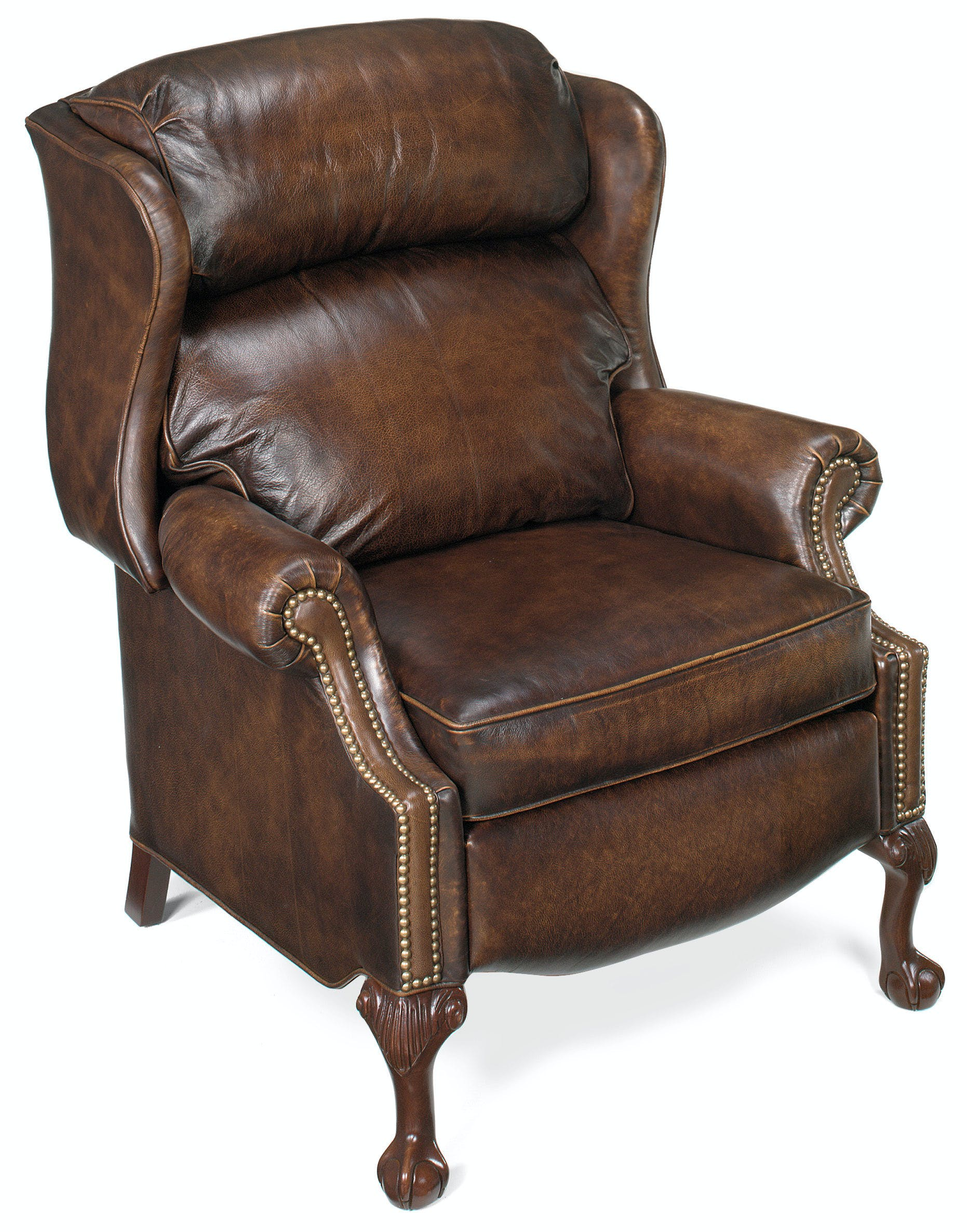 Picture of: Bradington Young Living Room Maxwell Ball And Claw Reclining Wing Chair 4115 Bradington Young