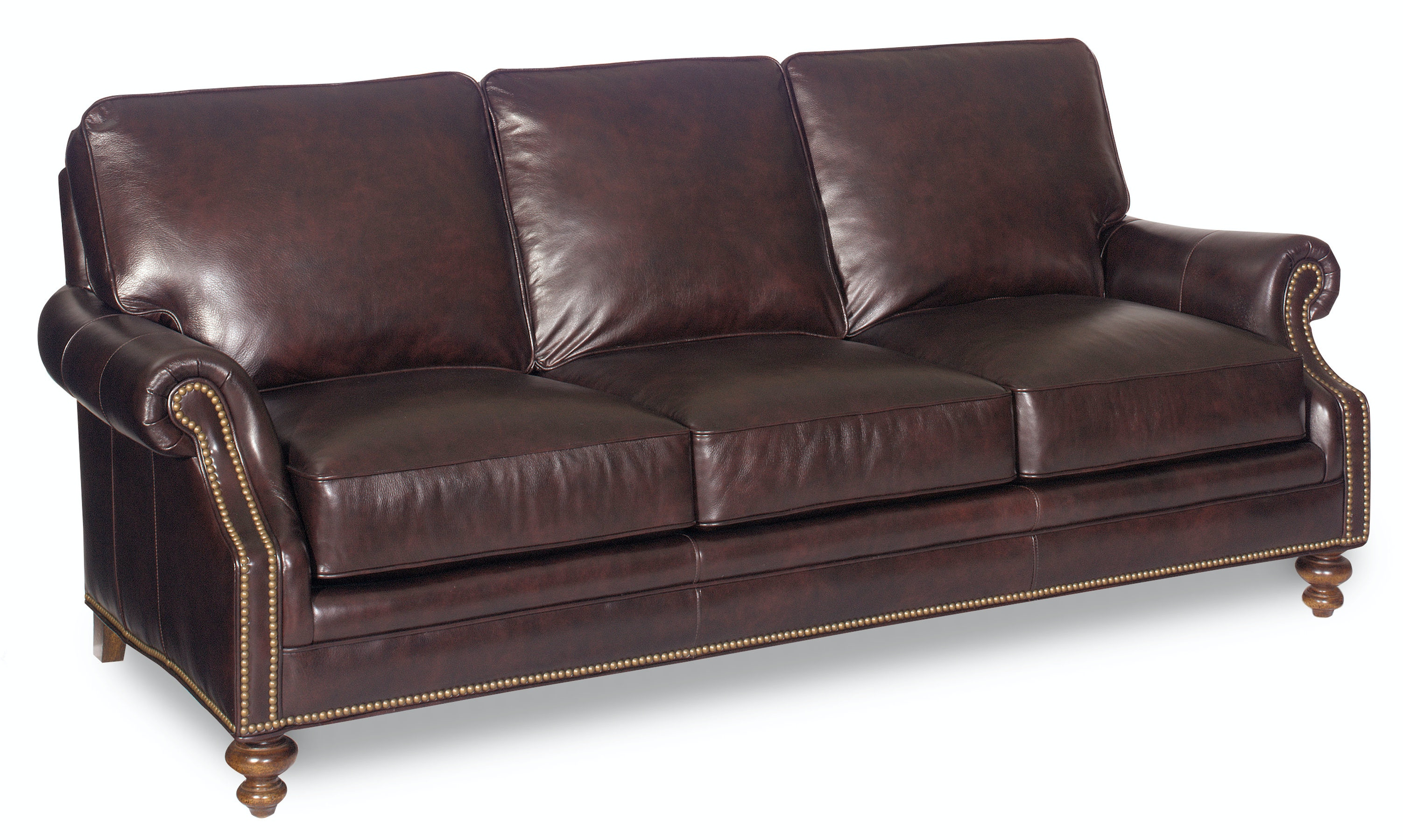 Bradington Young Living Room West Haven Stationary Sofa 8 Way Tie