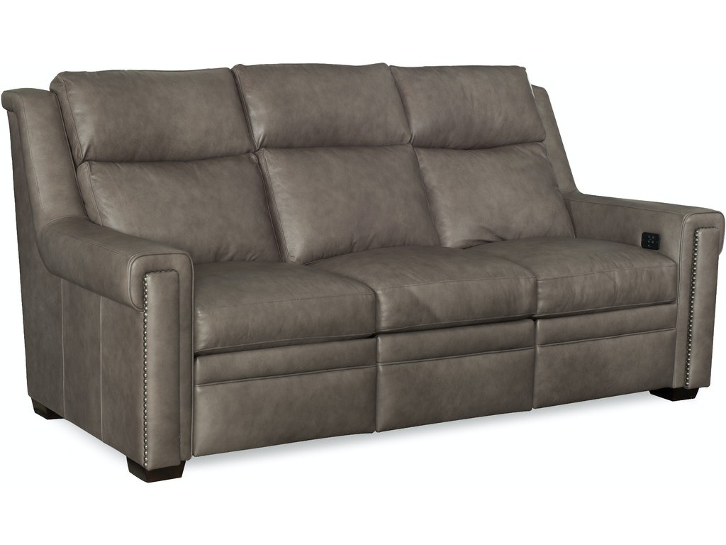 Bradington Young Sofas Nailhead Accented Leather Reclining Sofa In Brown Mathis Thesofa