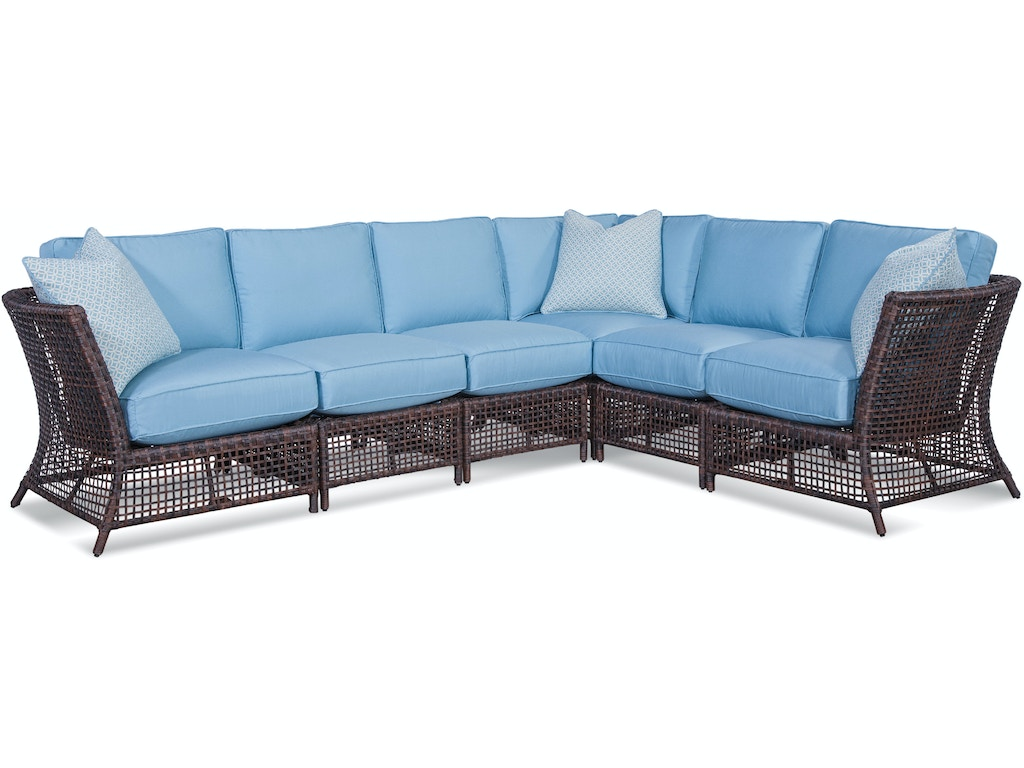 Braxton Culler Outdoor Patio 429 Sectional Seaside