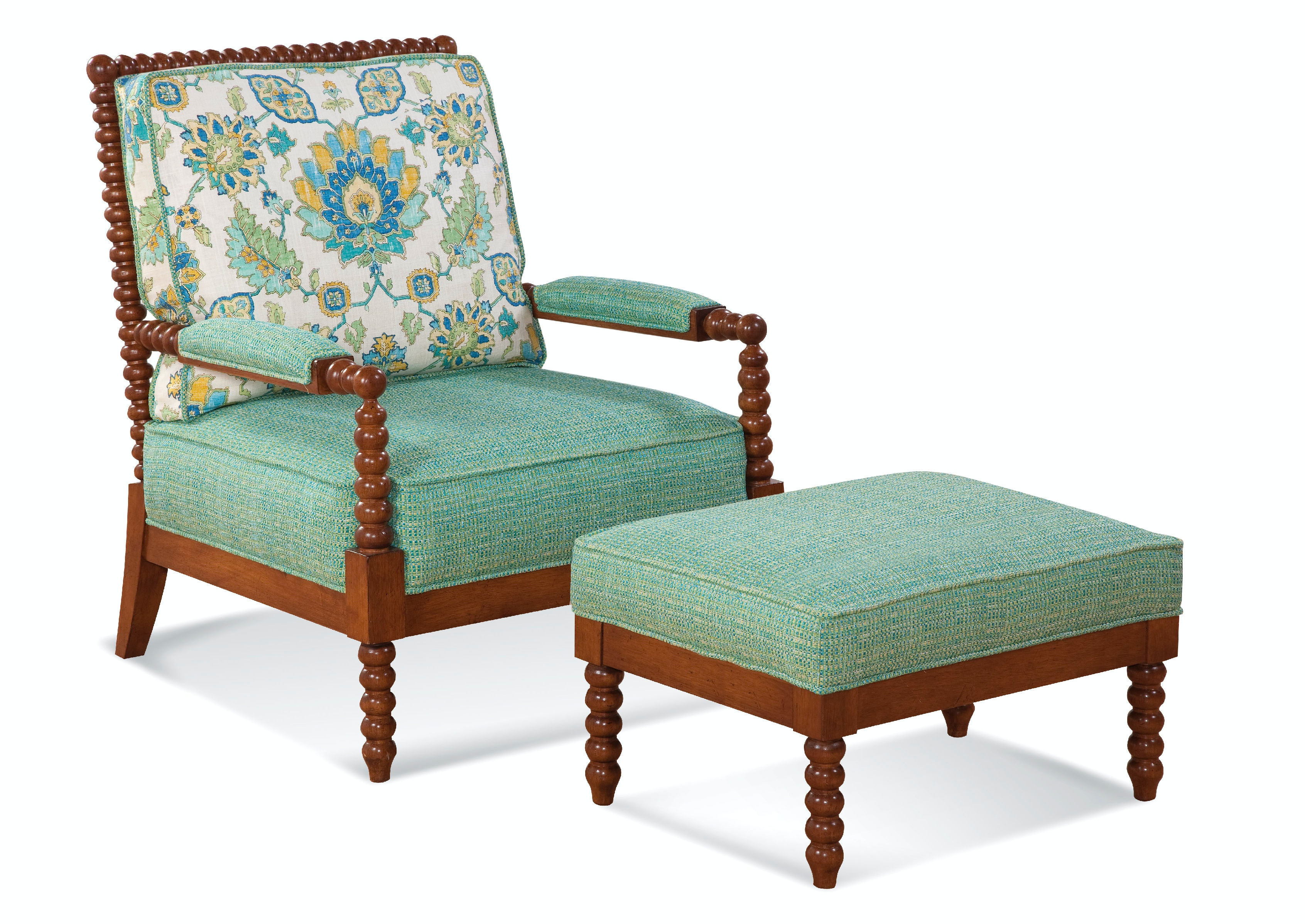 Beau Braxton Culler Lind Island Lounge Chair And Ottoman 1046 CO SET