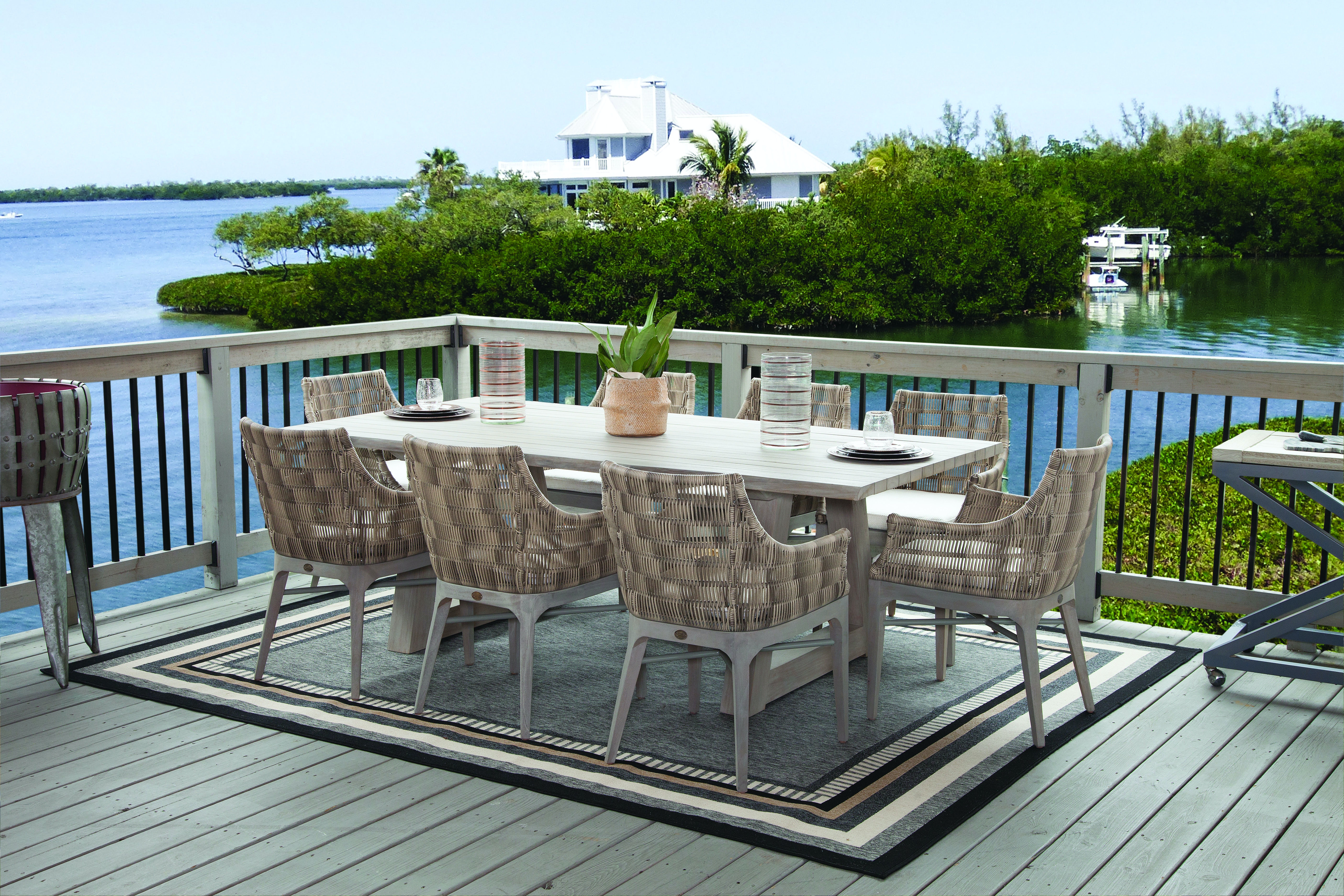 Incroyable Braxton Culler Sag Harbor Outdoor Dining Set 485 076 SET