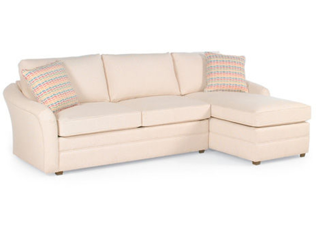 Braxton culler living room sectional with chaise 518 for Apartment sectional with chaise