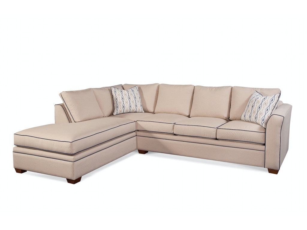 Braxton Culler Living Room 560 Bumper Sectional Seaside