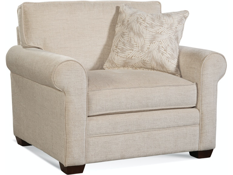 Tremendous Braxton Culler Living Room Bedford Chair And Ottoman 728 Co Pabps2019 Chair Design Images Pabps2019Com