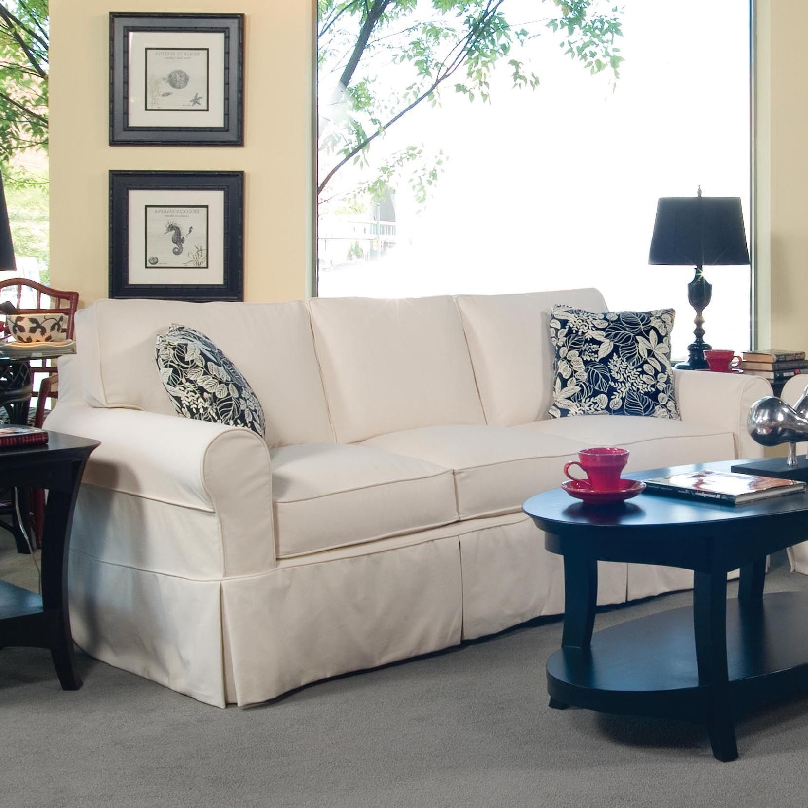 Slipcover Furniture Living Room: Braxton Culler Living Room Bedford Slipcover Sofa 728