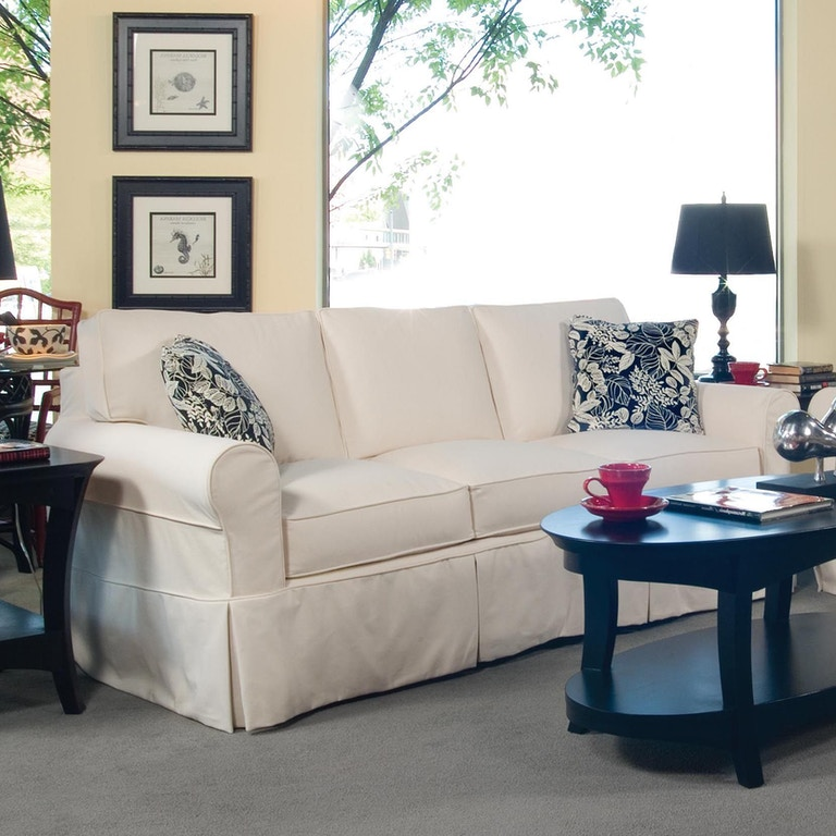 Braxton Culler 728 011xp Living Room Bedford Slipcover Sofa