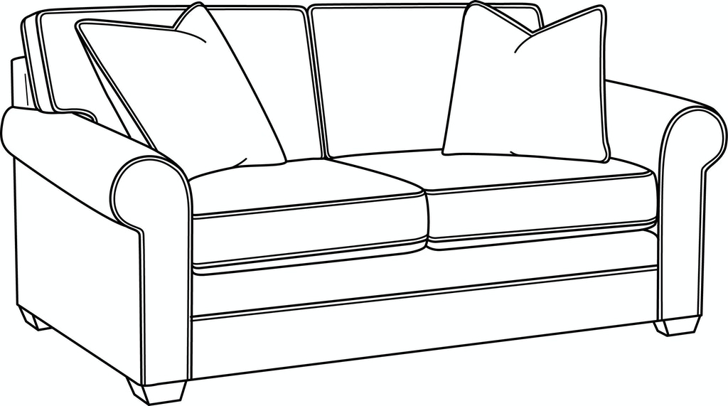Cool Braxton Culler Living Room Bedford Loveseat 728 019 Pabps2019 Chair Design Images Pabps2019Com