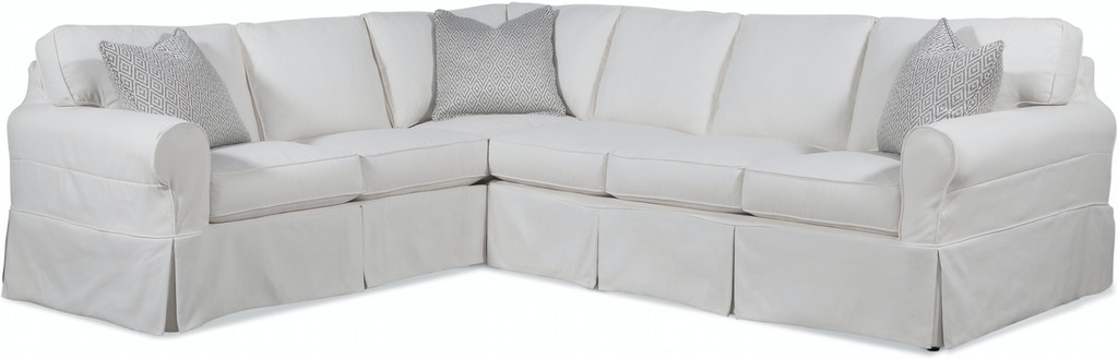 Braxton Culler Living Room Bedford Two-Piece Slipcover ...