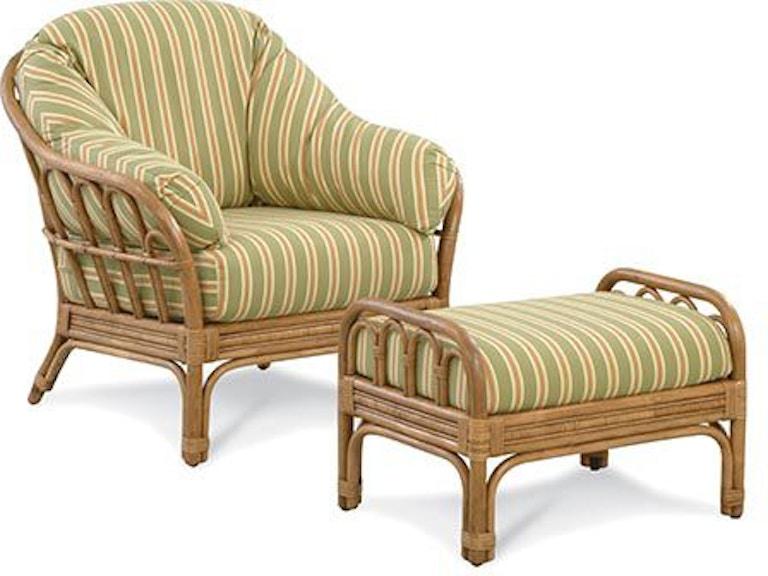Braxton Culler Moss Landing Wicker Chair And Ottoman 901 Co Set