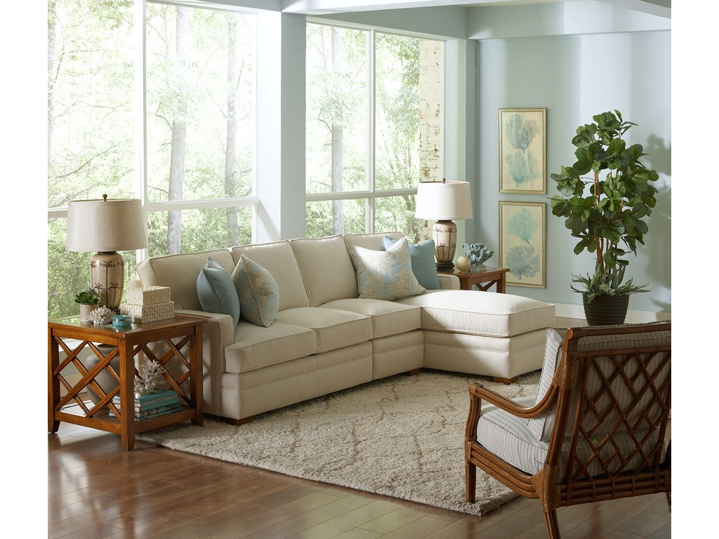 Braxton Culler Living Room 6312 Sectional Seaside
