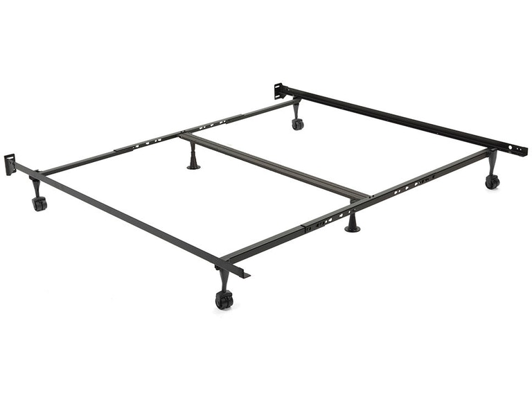 Leggett Platt Mattresses Restmore Adjule Bed Frame 806r With Double Center Support And 4 2 Inch Locking Rug Roller Legs Queen King 420254 At