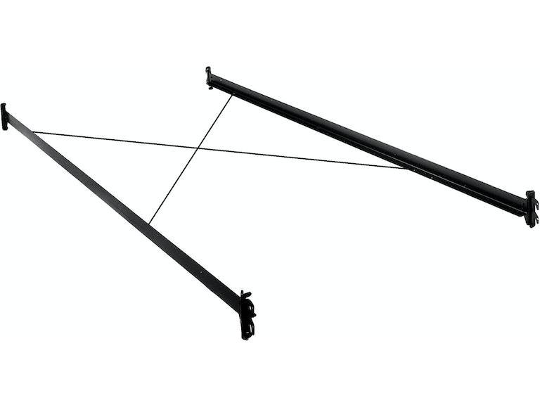 Fashion Bed Group Bedroom 75-Inch 33H Black Bed Frame Side Rails ...