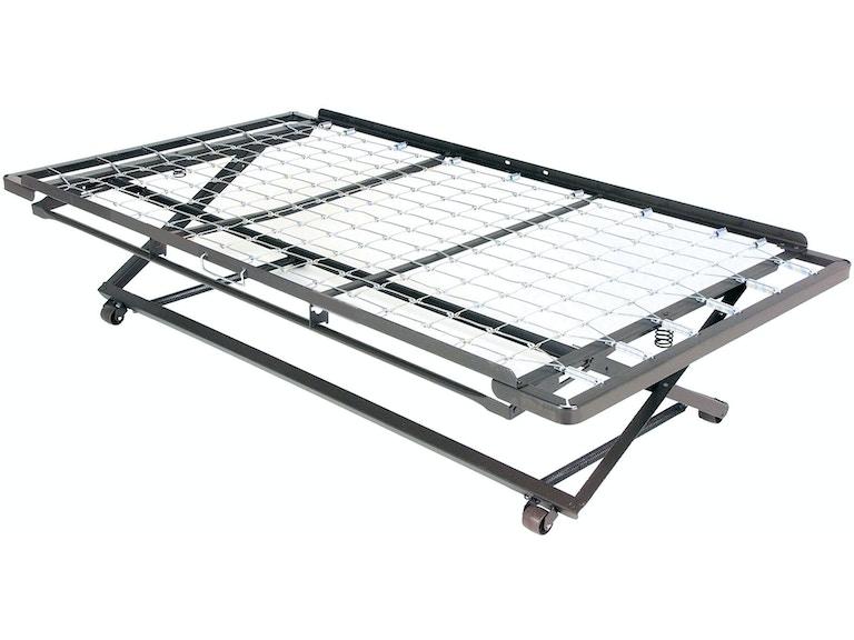 Leggett Platt Bedroom Pop Up 39 Inch Link Spring Trundle Bed With Dual Gravity Locks Twin 450029