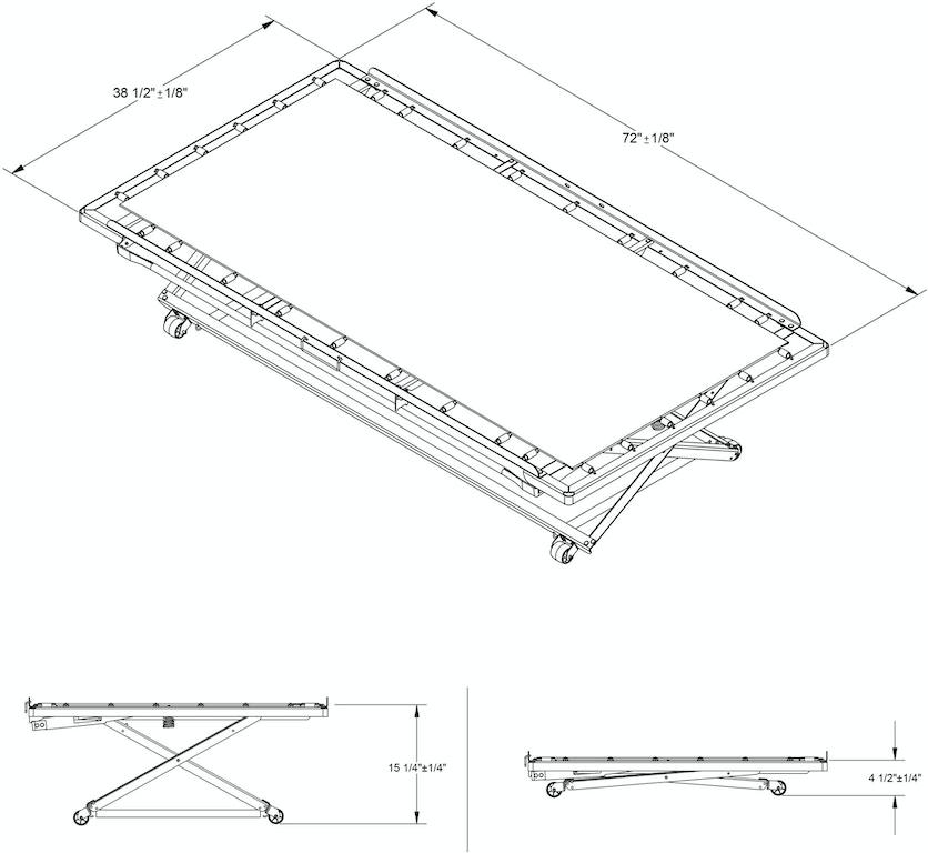 Leggett Amp Platt Bedrom Pop Up 39 Inch Poly Deck Trundle