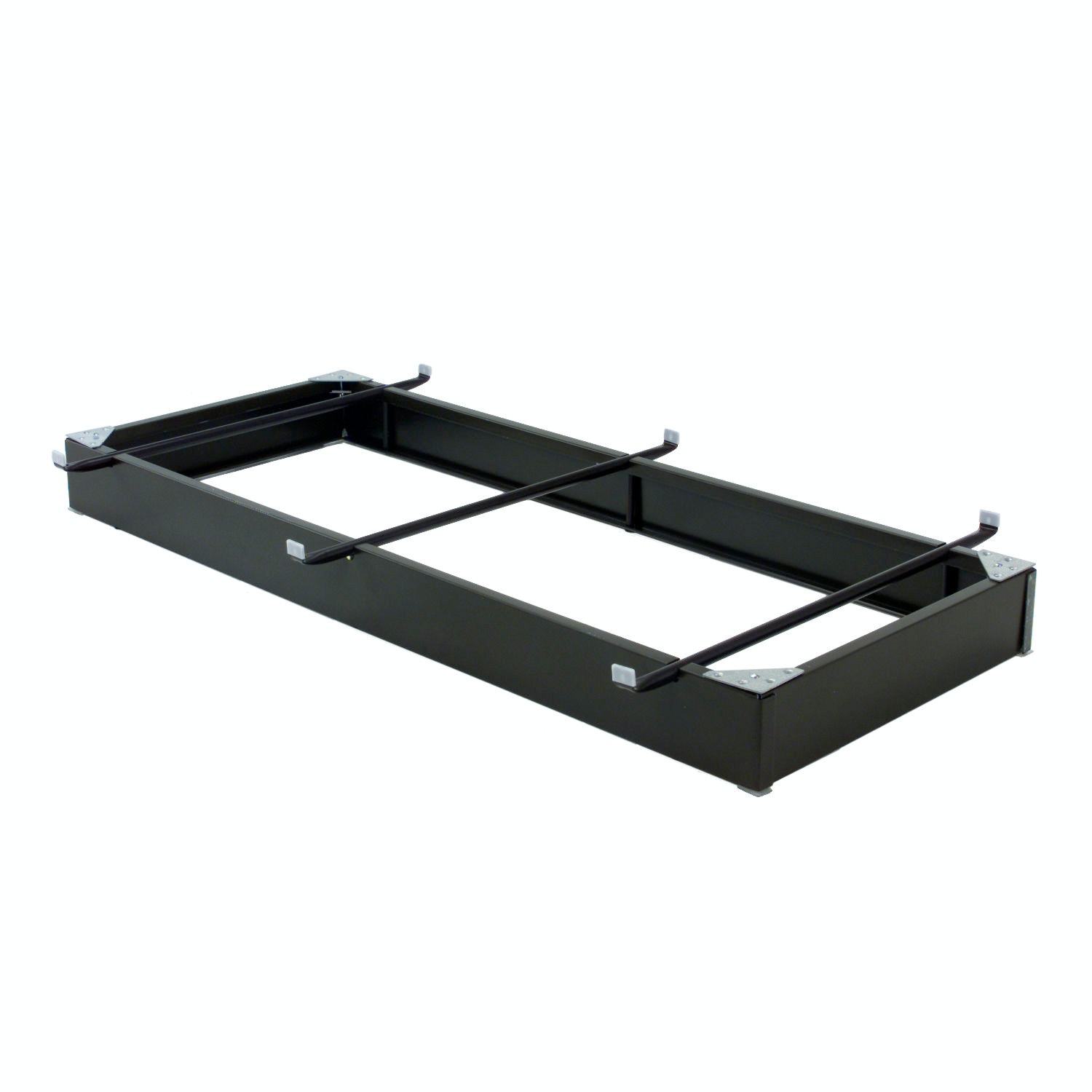 Hospitality Bed Full XL Queen Size Bolt-On Steel Bed Rails with Three Center