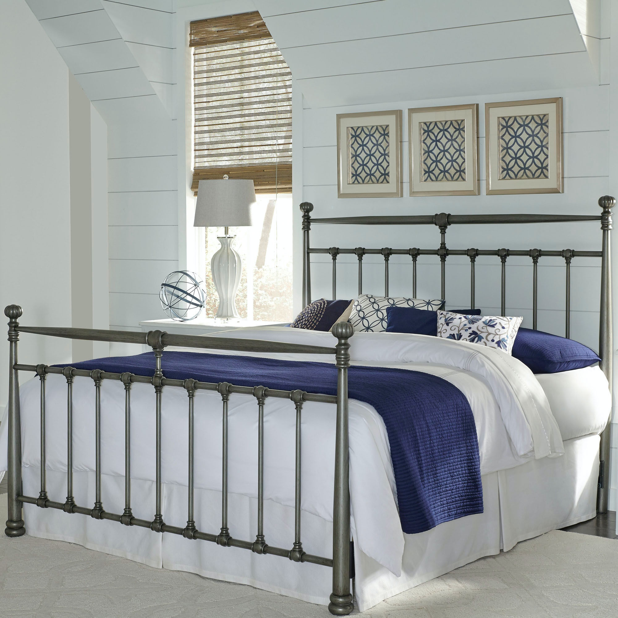 Fashion Bed Group Kensington Metal Headboard And Footboard B10077