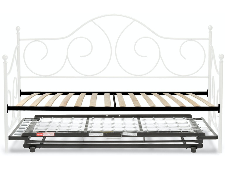 Fashion Bed Group Youth Caroline Complete Metal Daybed With Euro Top