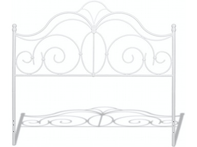 7e814d3bb45 Fashion Bed Group Rhapsody Complete Metal Bed and Steel Support Frame with  Delicate Scrolls and Finial