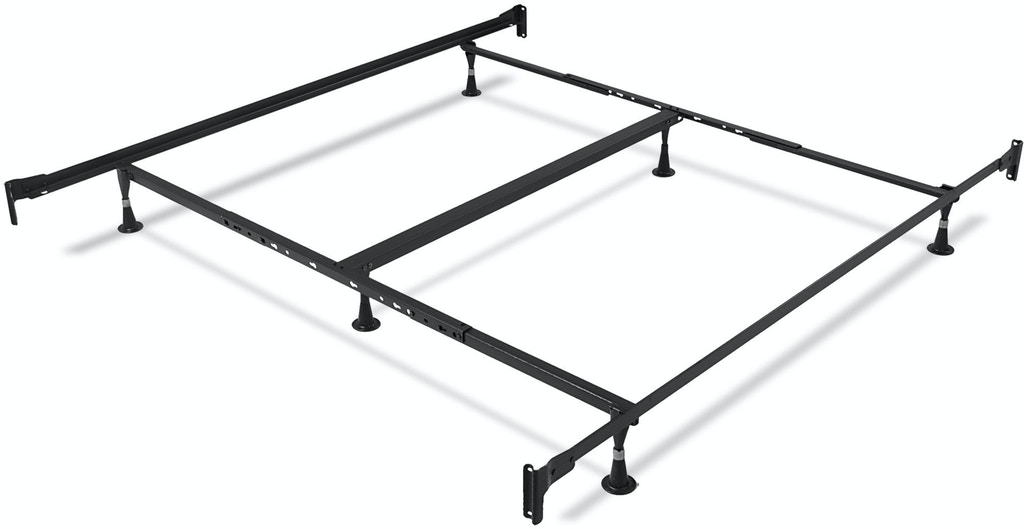 8080386b7ef ... Leggett   Platt Rhapsody Complete Metal Bed and Steel Support Frame  with Delicate Scrolls and Finial