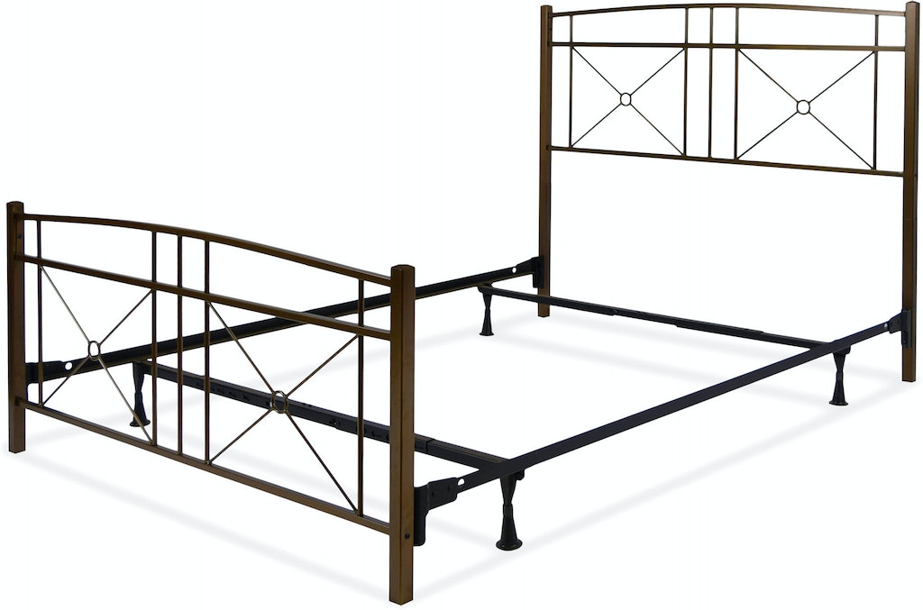Leggett & Platt Bedroom Russett Complete Metal Bed and Steel