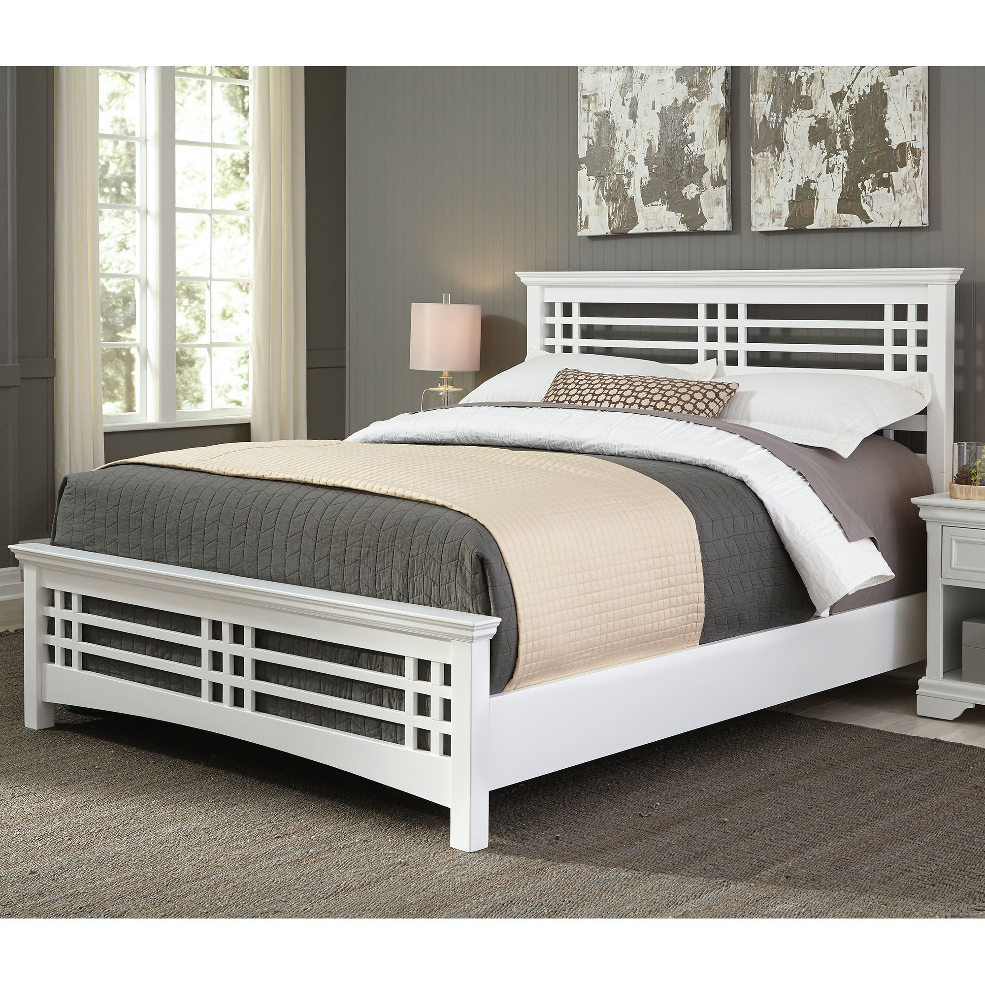Exceptional Fashion Bed Group Avery Complete Bed With Wood Frame And Mission Style  Design, Cottage White