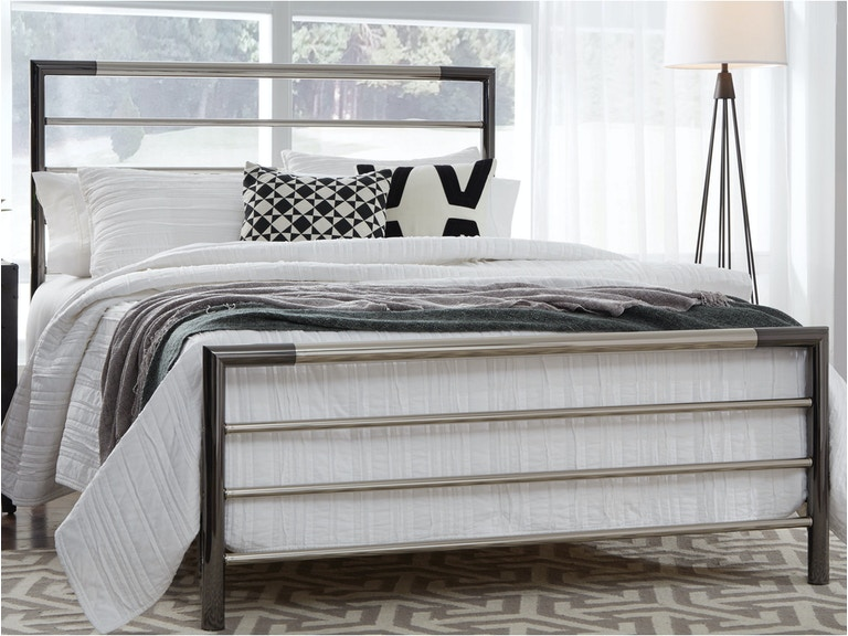 Fashion Bed Group Bedroom Kenton Complete Metal Bed And Steel