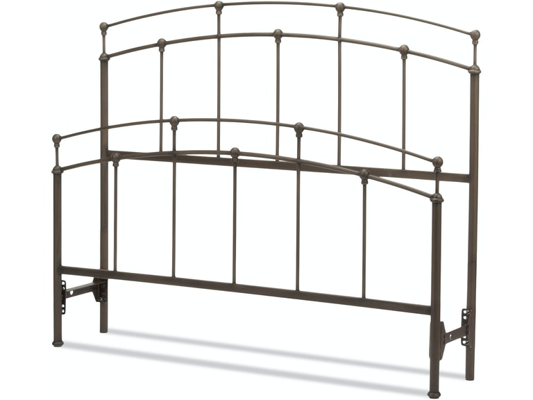 Fashion Bed Group B40757 Bedroom Fenton Bed with Metal Duo Panels ...