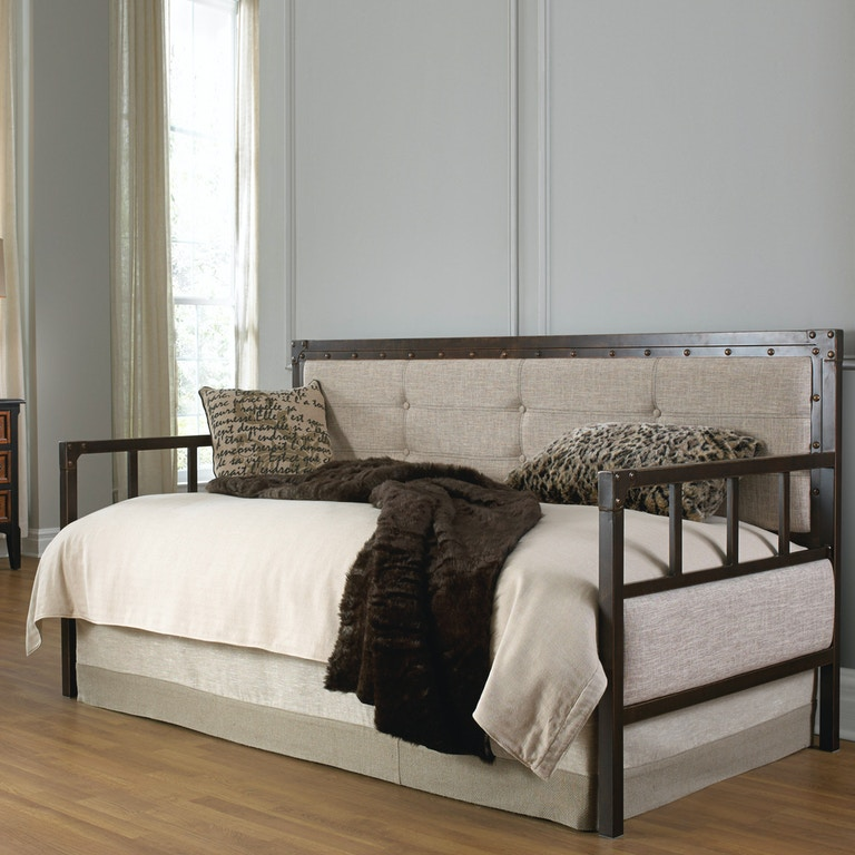 Fashion Bed Group Bedroom Gotham Metal Daybed With Latte Finished