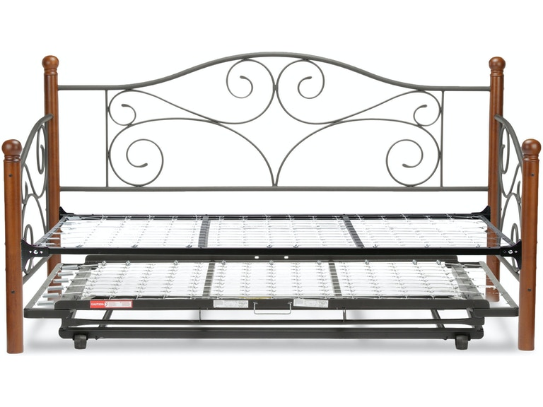 Fashion Bed Group Bedroom Doral Complete Metal Daybed With Link