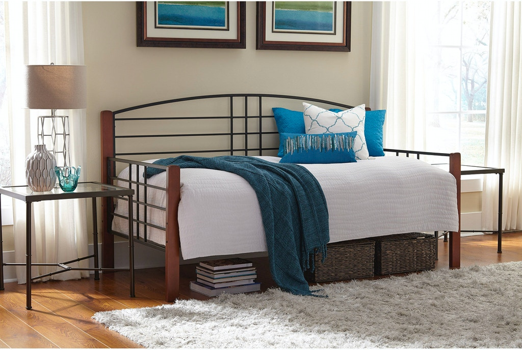 Fashion Bed Group Bedroom Dayton Metal Daybed Frame with Arched Back ...