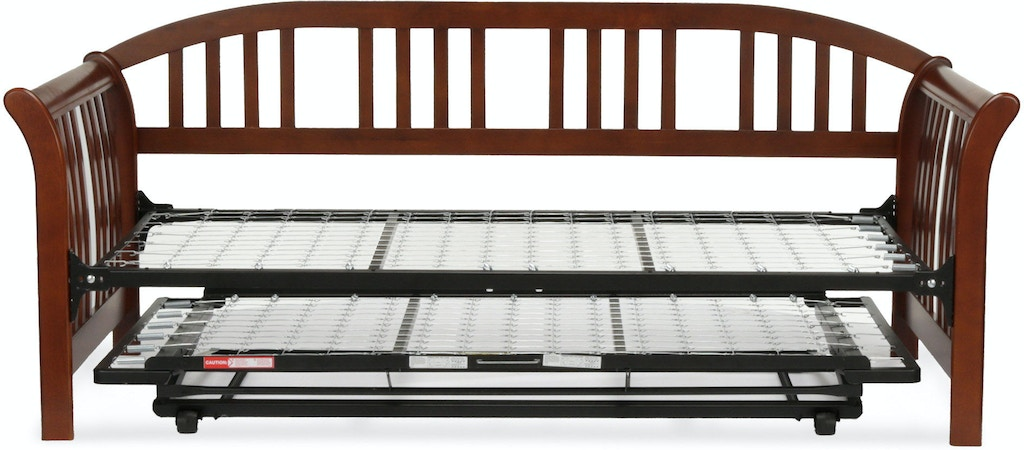 Fashion Bed Group M Complete Wood Daybed With Link Spring And Trundle Pop Up