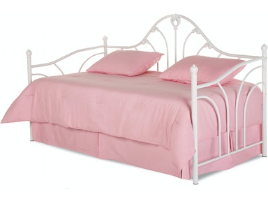 Fashion Bed Group Youth Emma Complete Metal Daybed With Link Spring And Trundle Pop