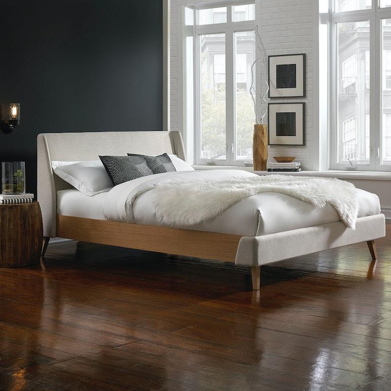 Leggett Platt Bedroom Palmer Complete Upholstered Platform Bed And