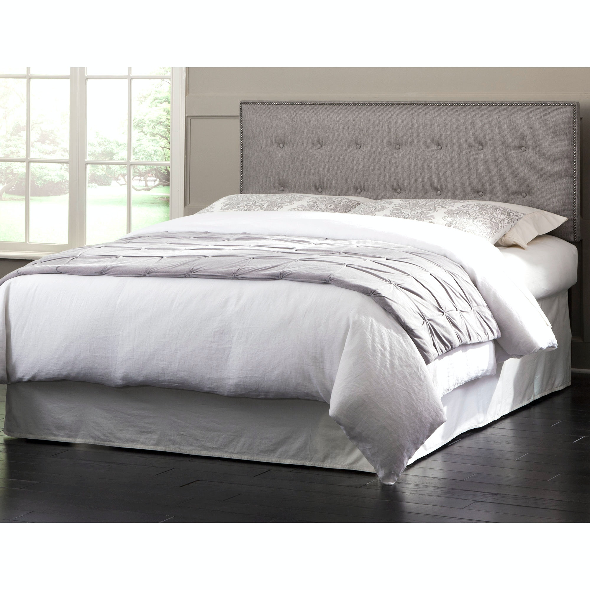 Fashion Bed Group Bedroom Easley Upholstered Headboard Panel with Solid Wood Adjustable Frame