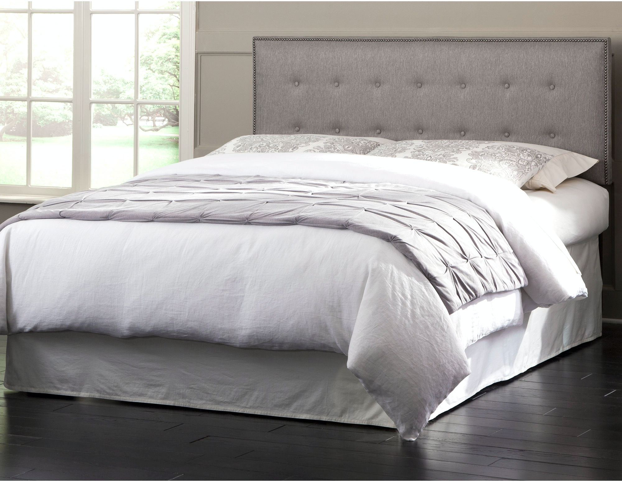 Wayfair Tufted Headboard Solid Tufted Dimensions Wood: Fashion Bed Group Bedroom Easley Upholstered Headboard