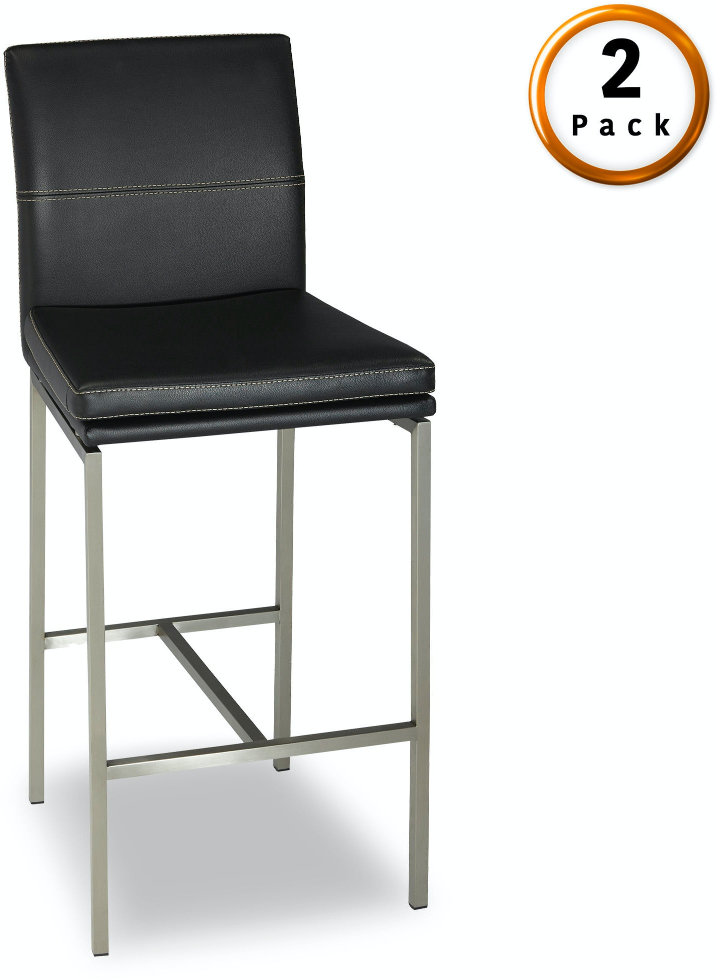 Fashion Bed Group Bar And Game Room Phoenix Bar Stool With Stainless
