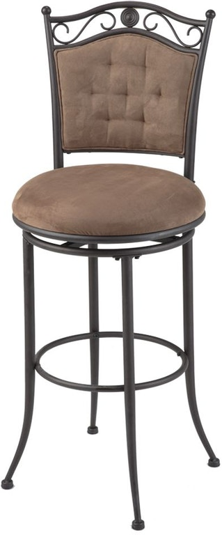 Enjoyable Shop Our Helena Swivel Seat Bar Stool With Umber Finished Dailytribune Chair Design For Home Dailytribuneorg