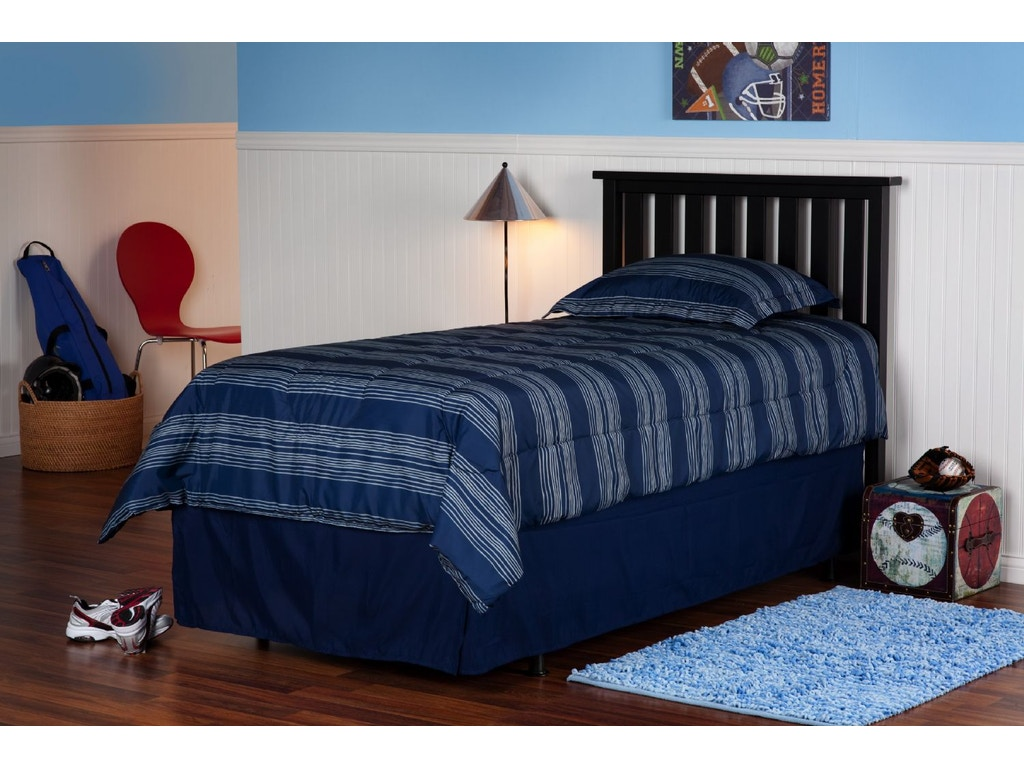 Fashion bed group youth belmont 3 3 headboard black for Furniture 4 less decatur al