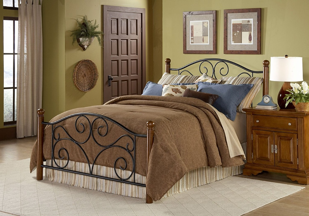 Leggett Platt Bedroom Doral Metal Headboard And Footboard Bed Panels With Decorative Scrollwork