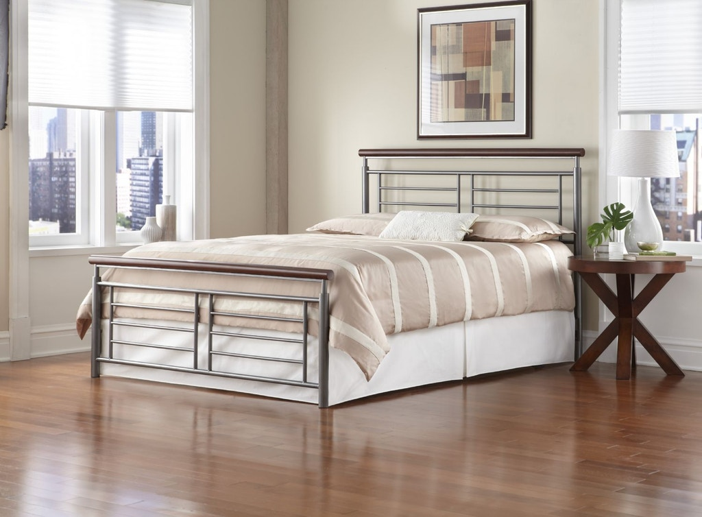 Leggett Platt Bedroom Fontane Metal Headboard And Footboard Bed