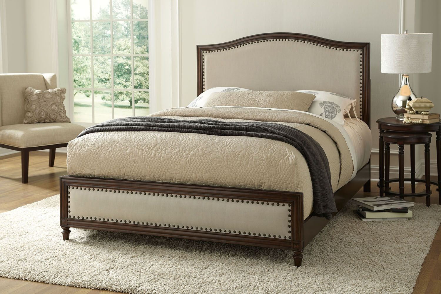 Fashion Bed Group Bedroom Grandover Complete Wood Bed And Bedding