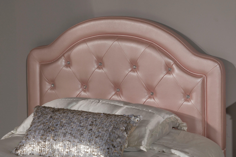 Hillsdale Furniture Karley Headboard   Twin   Pink Faux Leather  100947 109017