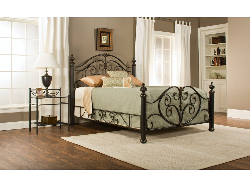 hillsdale furniture bedroom grand isle bed set queen with rails 1012bqr hickory furniture